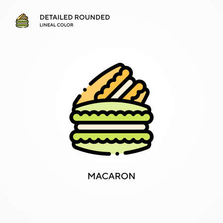 Macaron vector icon. Modern vector illustration concepts. Easy to edit and customize.
