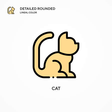 Cat vector icon. Modern vector illustration concepts. Easy to edit and customize.