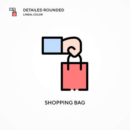 Shopping bag vector icon. Modern vector illustration concepts. Easy to edit and customize. Ilustrace