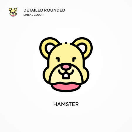 Hamster vector icon. Modern vector illustration concepts. Easy to edit and customize.