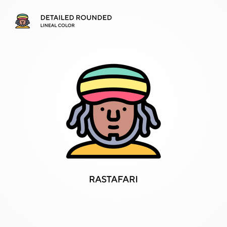 Rastafari vector icon. Modern vector illustration concepts. Easy to edit and customize.