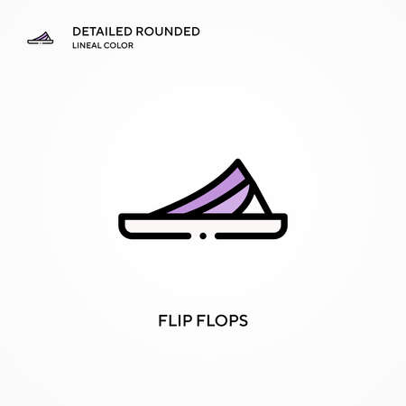 Flip flops vector icon. Modern vector illustration concepts. Easy to edit and customize.