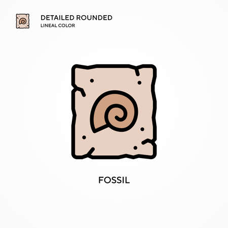 Fossil vector icon. Modern vector illustration concepts. Easy to edit and customize.