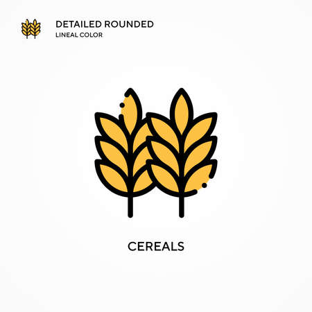 Cereals vector icon. Modern vector illustration concepts. Easy to edit and customize. Иллюстрация
