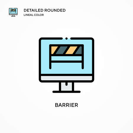 Barrier vector icon. Modern vector illustration concepts. Easy to edit and customize. Ilustração