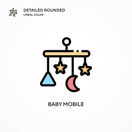 Baby mobile vector icon. Modern vector illustration concepts. Easy to edit and customize.