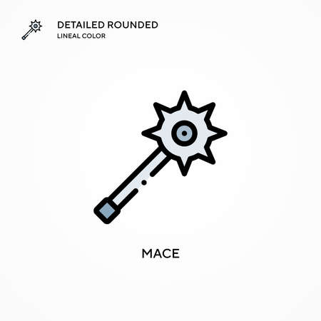 Mace vector icon. Modern vector illustration concepts. Easy to edit and customize.