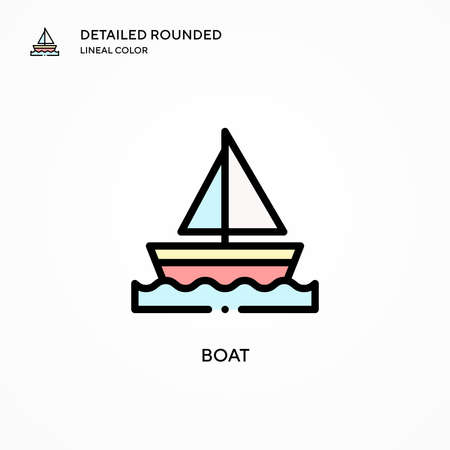 Boat vector icon. Modern vector illustration concepts. Easy to edit and customize. Illustration