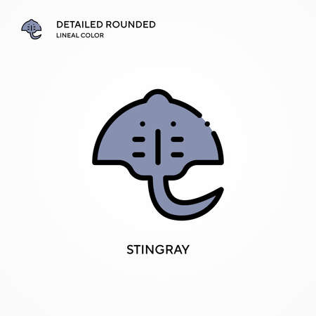 Stingray vector icon. Modern vector illustration concepts. Easy to edit and customize.