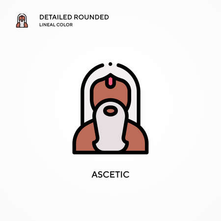 Ascetic vector icon. Modern vector illustration concepts. Easy to edit and customize.