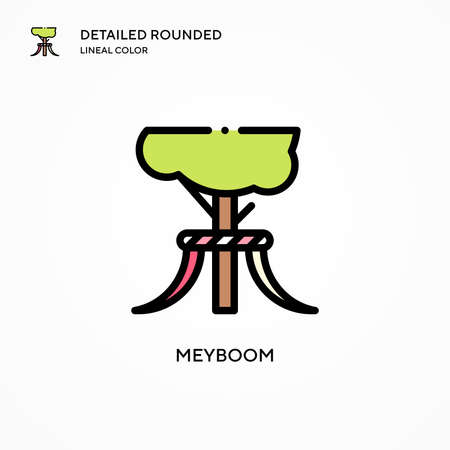 Meyboom vector icon. Modern vector illustration concepts. Easy to edit and customize. Ilustrace