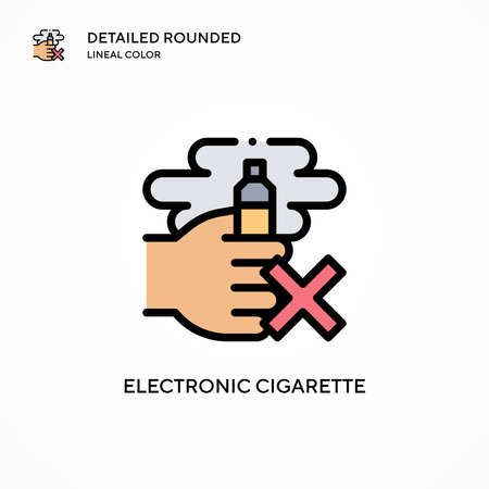Electronic cigarette vector icon. Modern vector illustration concepts. Easy to edit and customize. Vectores