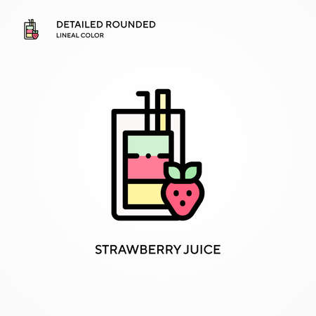 Strawberry juice vector icon. Modern vector illustration concepts. Easy to edit and customize.