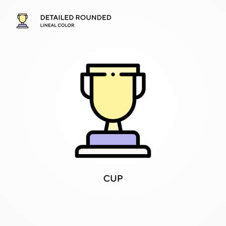 Cup vector icon. Modern vector illustration concepts. Easy to edit and customize.