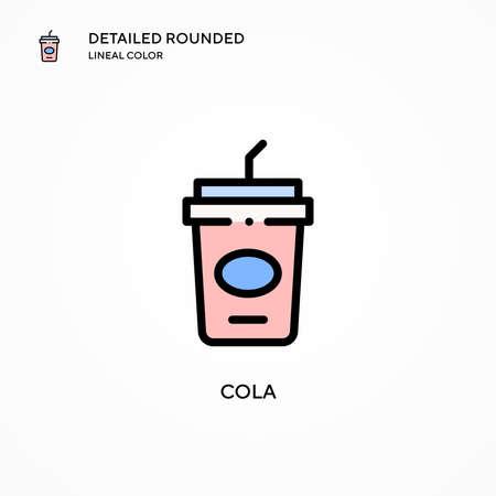 Cola vector icon. Modern vector illustration concepts. Easy to edit and customize. Illusztráció