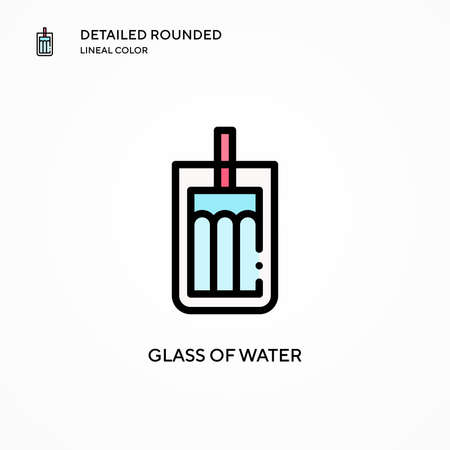 Glass of water vector icon. Modern vector illustration concepts. Easy to edit and customize. Illusztráció