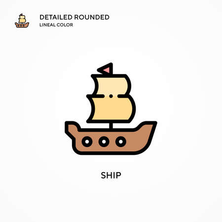 Ship vector icon. Modern vector illustration concepts. Easy to edit and customize. Illustration