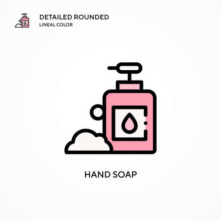 Hand soap vector icon. Modern vector illustration concepts. Easy to edit and customize.