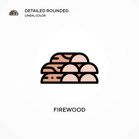 Firewood vector icon. Modern vector illustration concepts. Easy to edit and customize.