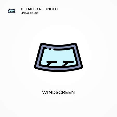 Windscreen vector icon. Modern vector illustration concepts. Easy to edit and customize. Illusztráció