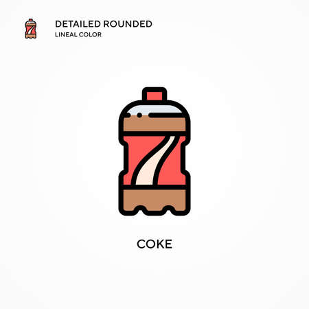 Coke vector icon. Modern vector illustration concepts. Easy to edit and customize.