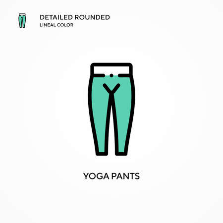 Yoga pants vector icon. Modern vector illustration concepts. Easy to edit and customize. Stock Illustratie