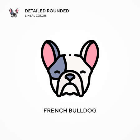 French bulldog vector icon. Modern vector illustration concepts. Easy to edit and customize.
