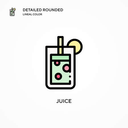 Juice vector icon. Modern vector illustration concepts. Easy to edit and customize.
