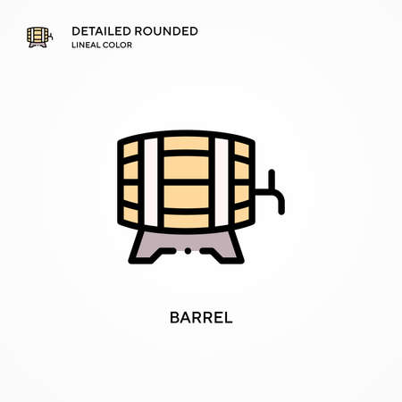 Barrel vector icon. Modern vector illustration concepts. Easy to edit and customize. Illustration