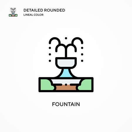 Fountain vector icon. Modern vector illustration concepts. Easy to edit and customize.