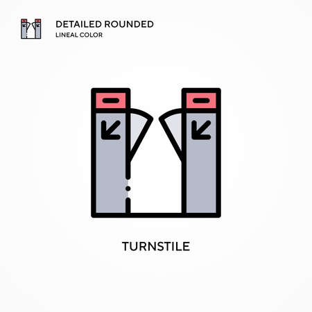 Turnstile vector icon. Modern vector illustration concepts. Easy to edit and customize.