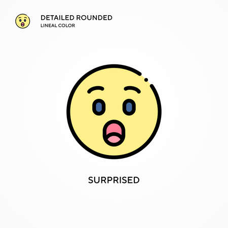 Surprised vector icon. Modern vector illustration concepts. Easy to edit and customize. Çizim