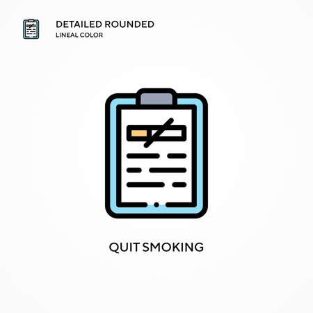 Quit smoking vector icon. Modern vector illustration concepts. Easy to edit and customize. Vectores