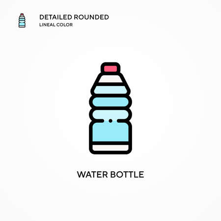 Water bottle vector icon. Modern vector illustration concepts. Easy to edit and customize. Illusztráció