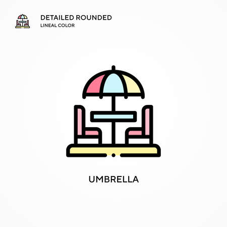 Umbrella vector icon. Modern vector illustration concepts. Easy to edit and customize.