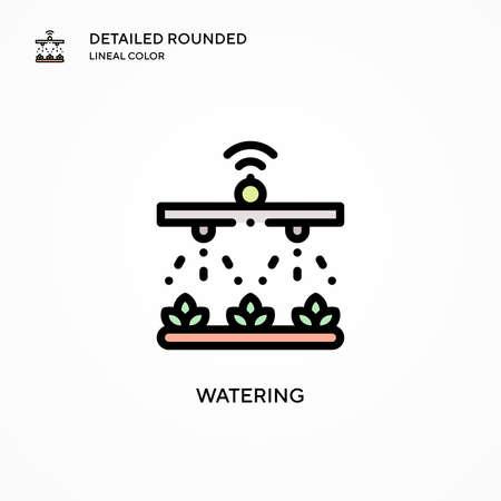 Watering vector icon. Modern vector illustration concepts. Easy to edit and customize. Illusztráció