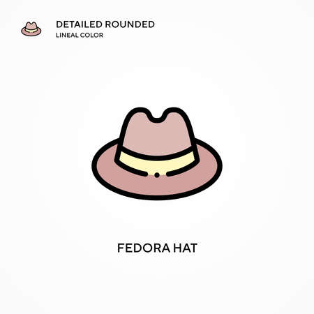 Fedora hat vector icon. Modern vector illustration concepts. Easy to edit and customize.