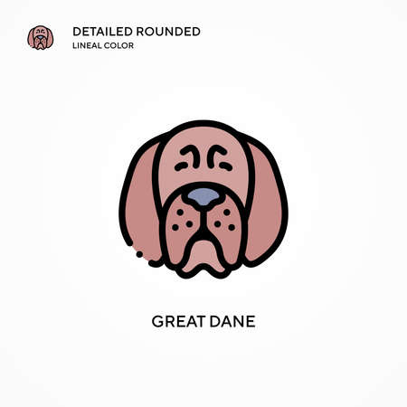Great dane vector icon. Modern vector illustration concepts. Easy to edit and customize.