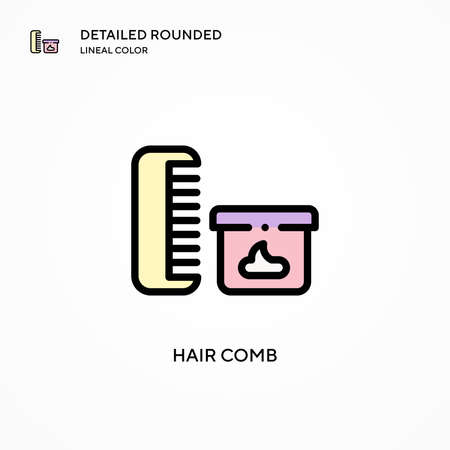 Hair comb vector icon. Modern vector illustration concepts. Easy to edit and customize. Çizim