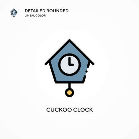 Cuckoo clock vector icon. Modern vector illustration concepts. Easy to edit and customize.