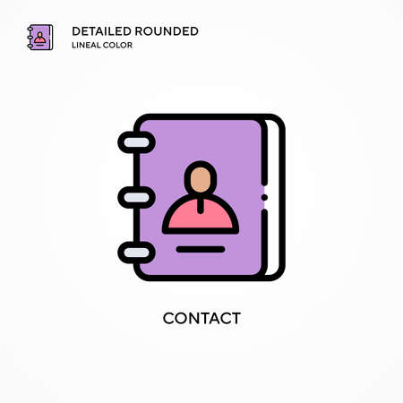 Contact vector icon. Modern vector illustration concepts. Easy to edit and customize. Illustration