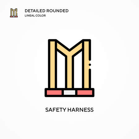 Safety harness vector icon. Modern vector illustration concepts. Easy to edit and customize.