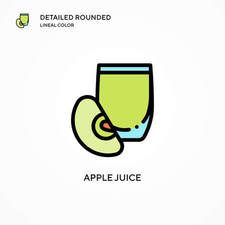 Apple juice vector icon. Modern vector illustration concepts. Easy to edit and customize. Illusztráció
