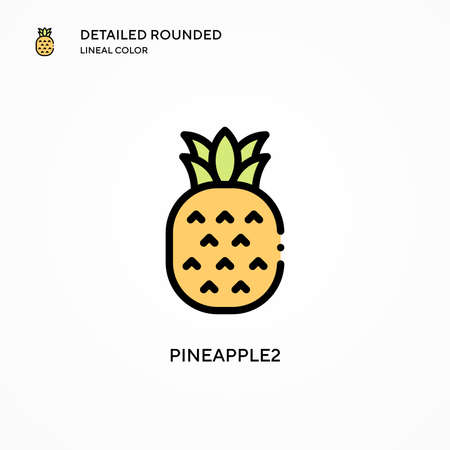 Pineapple2 vector icon. Modern vector illustration concepts. Easy to edit and customize.