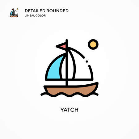Yatch vector icon. Modern vector illustration concepts. Easy to edit and customize.