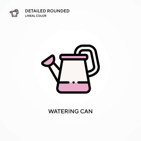 Watering can vector icon. Modern vector illustration concepts. Easy to edit and customize.