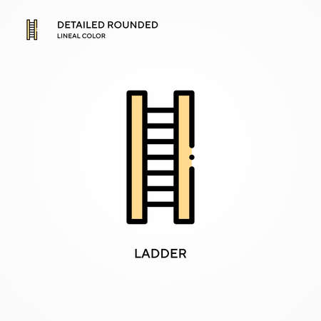 Ladder vector icon. Modern vector illustration concepts. Easy to edit and customize.
