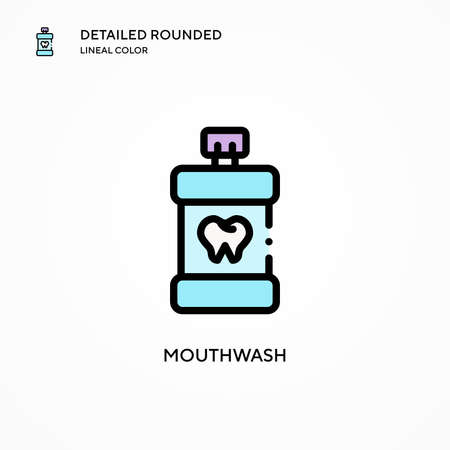 Mouthwash vector icon. Modern vector illustration concepts. Easy to edit and customize.