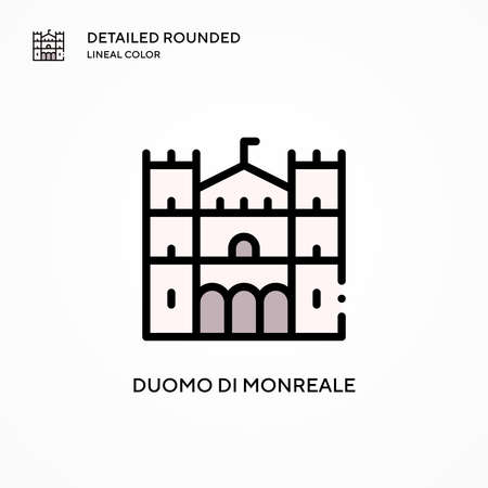 Duomo di monreale vector icon. Modern vector illustration concepts. Easy to edit and customize. 矢量图像