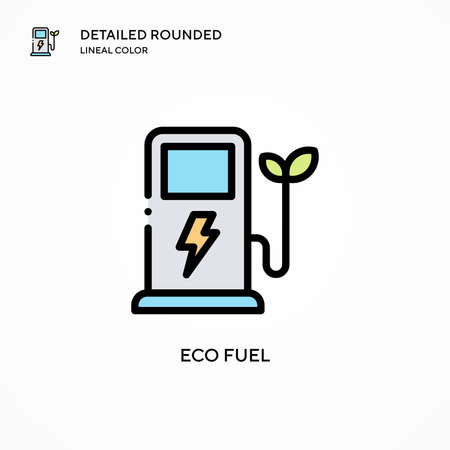 Eco fuel vector icon. Modern vector illustration concepts. Easy to edit and customize.